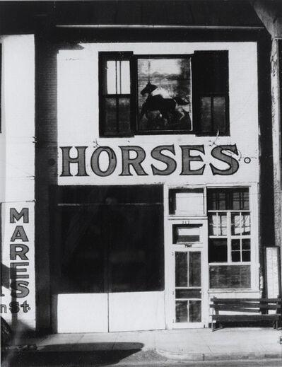 Sherrie Levine, 'Horses (After Walker Evans)', 1997