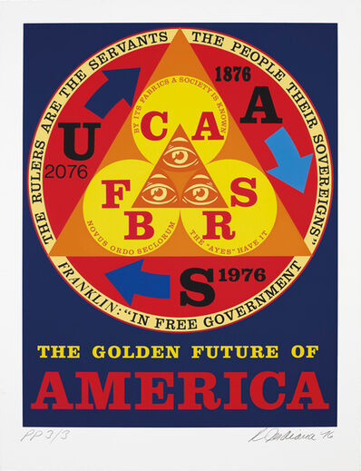 Robert Indiana, 'The Golden Future of America, from An American Portrait, 1776-1976', 1976