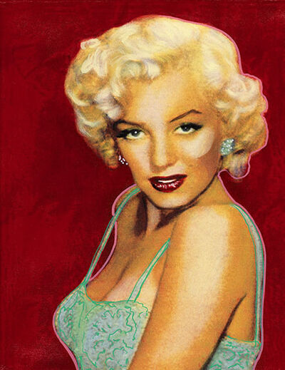 Steve Kaufman, 'Marilyn on Red', 1997