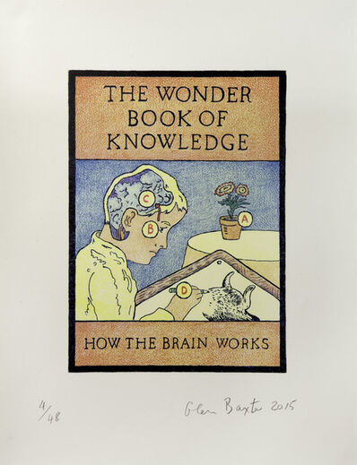 Glen Baxter, 'The Wonder Book of Knowledge - How the Brain Works', 2014