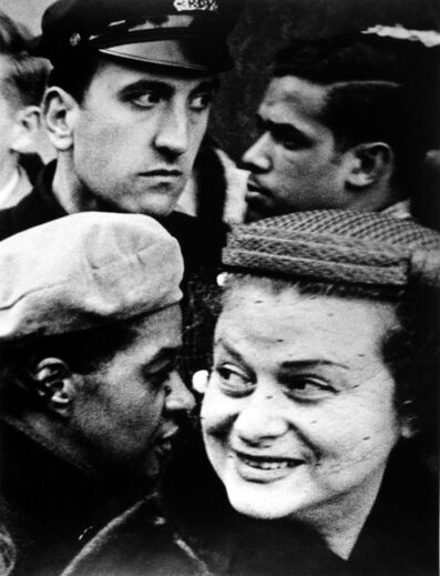 William Klein, 'Four Heads, New York', 1954