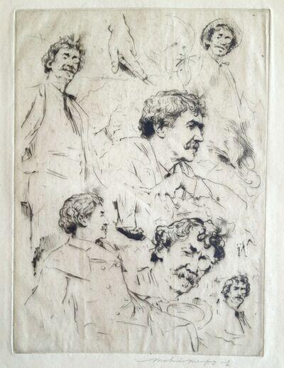 Mortimer Menpes, 'Whistler Portrait No. 7 (Six Faces of Whistler)', 1902