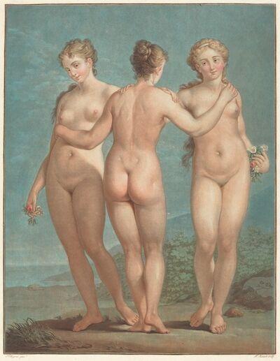 Jean-François Janinet after Giovanni Antonio Pellegrini, 'Les trois graces'