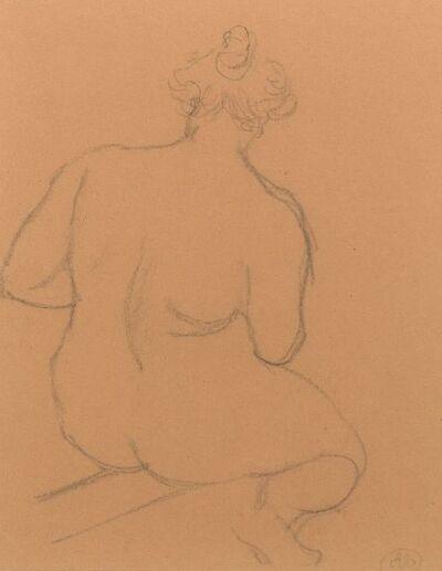 Aristide Maillol, 'Femme nue de dos, accroupie', ca. 1926