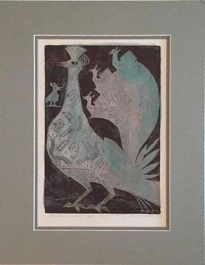Joseph Domjan, 'Bird & Young', 20th Century