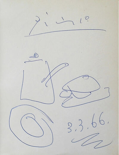 Pablo Picasso, 'Untitled, Still Life Drawing', 1966