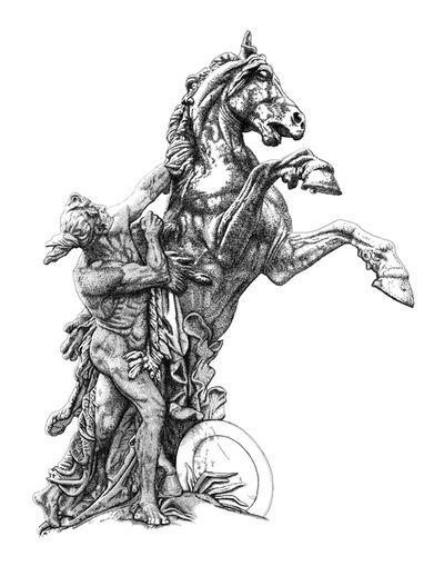 Arthur Borisov, 'Sculpture of man taming a rearing horse. Vienna, Austria.', 2015