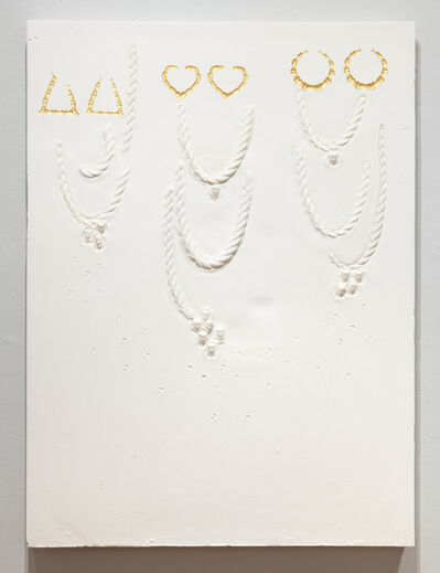 LaKela Brown, 'Ropes Composition with Gold Doorknocker Impressions, and Embedded Pharaoh Castings', 2021