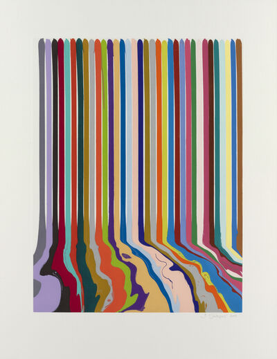 Ian Davenport, 'Etched Lines: Thirty-Four', 2009