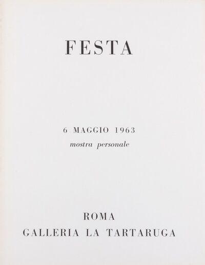Tano Festa, 'Festa', 1963