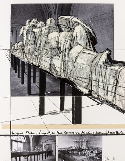 Christo and Jeanne-Claude, 'Wrapped Statues. Project for Die Glyptothek, München (Schellmann 135)', 1988