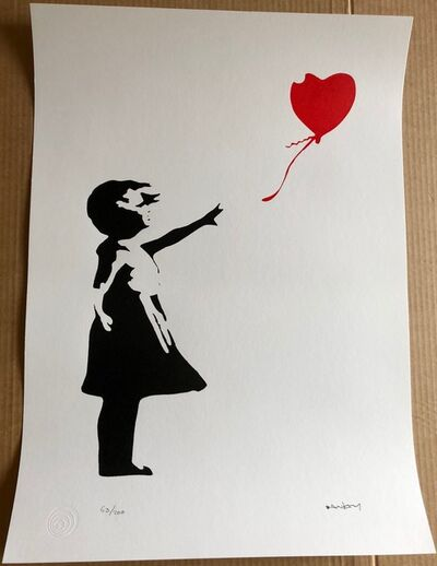After Banksy, 'Girl With Red Heart Balloon', 2016