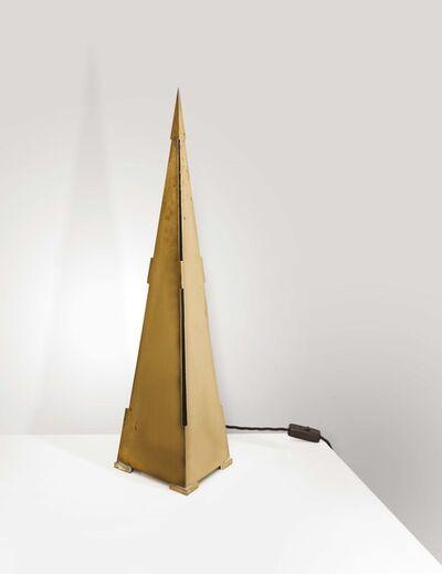 Gabriella Crespi, 'a brass Obelisco lamp', 1970