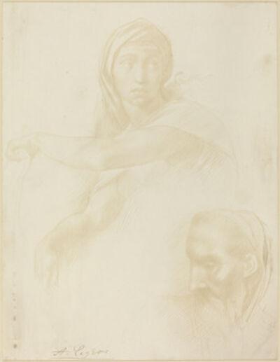 Alphonse Legros, 'Study of Delphic Sibyl; Head of a Man'