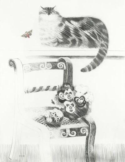 Mary Fedden, 'Cat and Butterfly', 1983