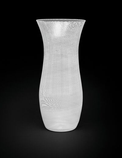 Carlo Scarpa, 'A mezza filigrana glass vase model', 1936