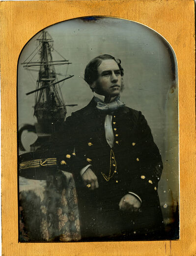 Unknown, 'British Naval Officer with Ship Model, Daguerreotype', 1840s