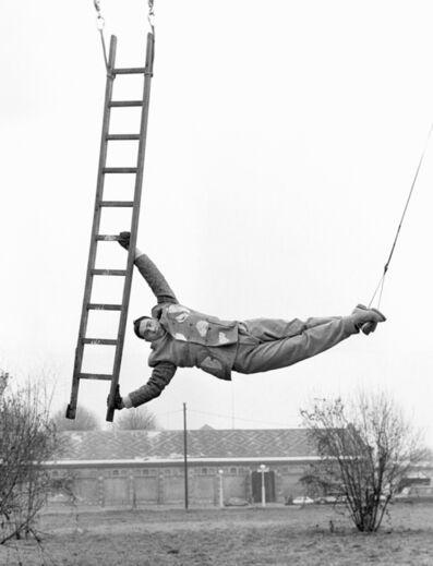 Geof Kern, 'untitled (man and ladder)', 1992