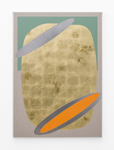 Pierre Vermeulen, 'Hair orchid sweat print, orange and oxide green with mirror pool', 2018