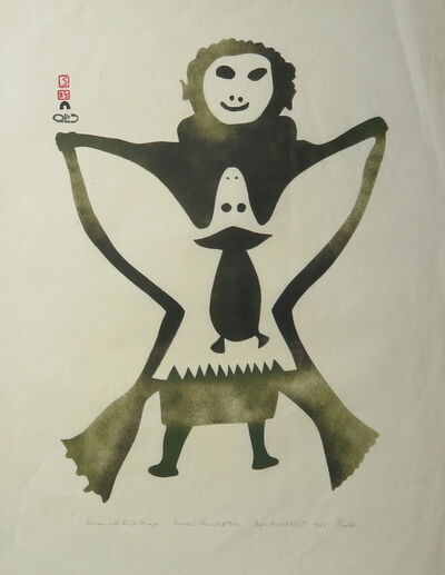 Pudlo Pudlat, 'Woman with Bird Image', 1961