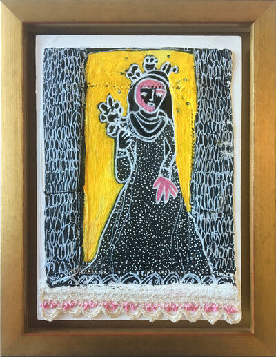 Julia Ledyard, 'St. Rose of Lima on Yellow', 2017