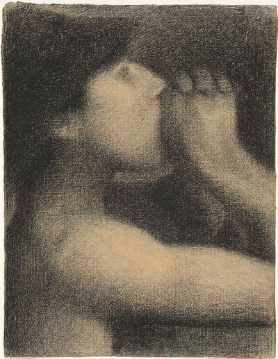 Georges Seurat, 'L'écho (Echo), study for Une baignade, Asnières (Bathers at Asnières)', 1883-1884