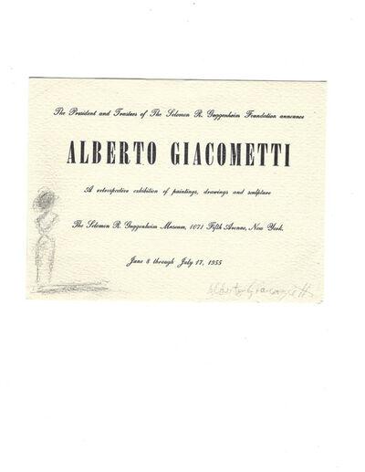 Alberto Giacometti, 'Alberto Giacometti Guggenheim Exhibition', 1955