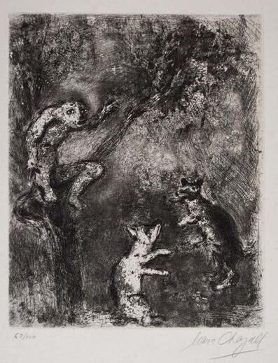 Marc Chagall, 'Le Loup plaidant contre le Renard par-devant le Singe', 1927-1930