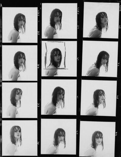 William Helburn, 'Jean Shrimpton Contact Sheet, Helene Curtis', 1964