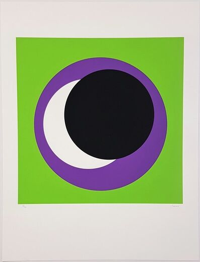 Geneviève Claisse, 'Black and Purple Circle (Cercle noir et lilas)', 2015