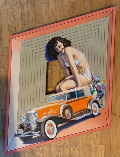 Ralph Allen Massey, 'Untitled (Girl Atop Vintage Auto)', 2012