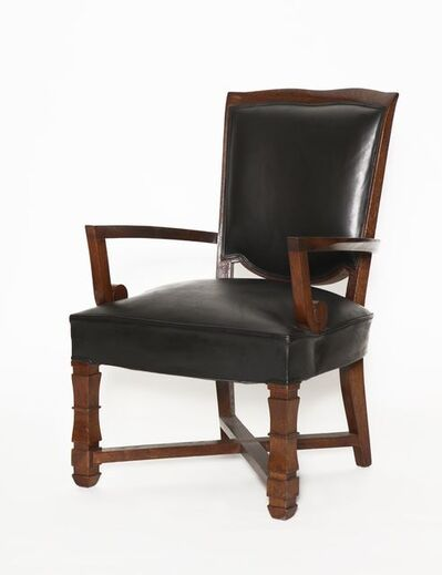 Maison Leleu, 'Large Desk Armchair', ca. France-circa 1946