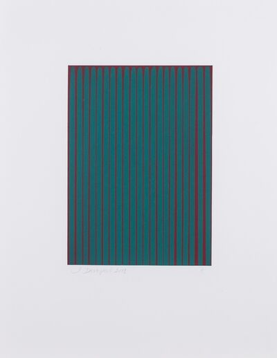 Ian Davenport, 'Etched Lines: Phthalocyanine Green (blue shade) on Pyrrole Crimson (11)', 2008