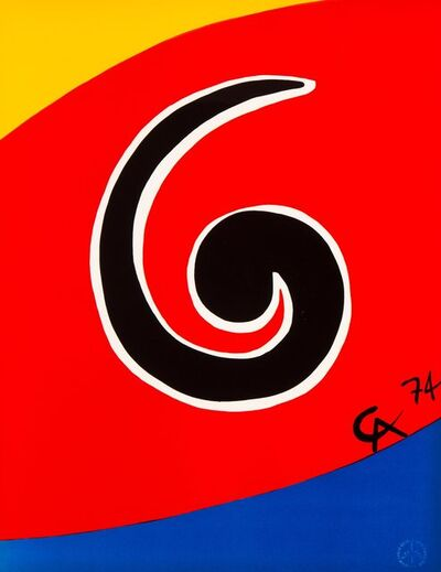 Alexander Calder, 'Untitled, from Flying Colors (five works)', 1975
