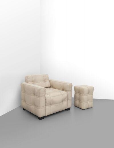 Ferragamo Salvatore, 'An armchair and ottoman', 1970's