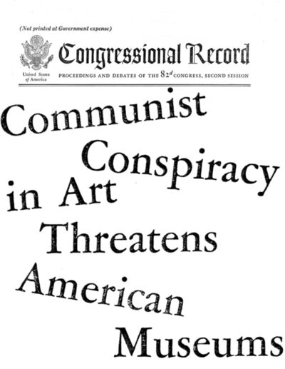 Yevgeniy Fiks, 'Communist Conspiracy in Art Threatens American Museums', 2009