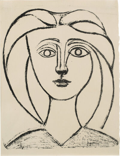Pablo Picasso, 'Jeune fille aux grands cheveux (Long-Haired Young Girl) (Bl. 380, M. 12, R. 54)', 1945
