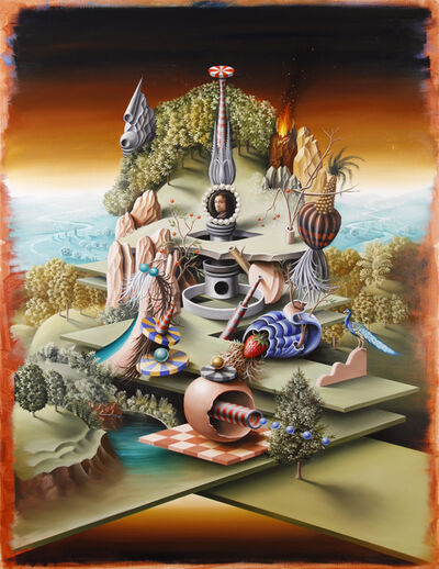 Peter Daverington, 'Philobarbaros and his garden of whimsical delights after Bosch', 2016