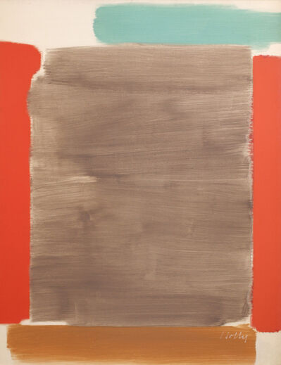 Carl Holty, 'Vertical Red and Gray', 1963