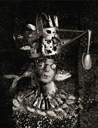 Michiko Kon (今 道子), 'Yellowtail, Saury, and Watering Pot', 1986