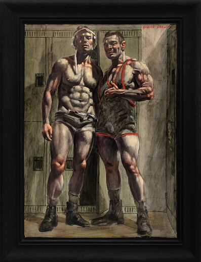Mark Beard, '[Bruce Sargeant (1898-1938)] Young Wrestler and His Mentor', n.d.