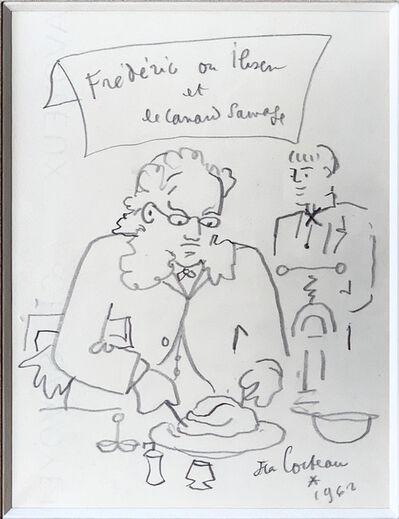 Jean Cocteau, 'Frederic ou Ibsen et le canard sauvage', 1962