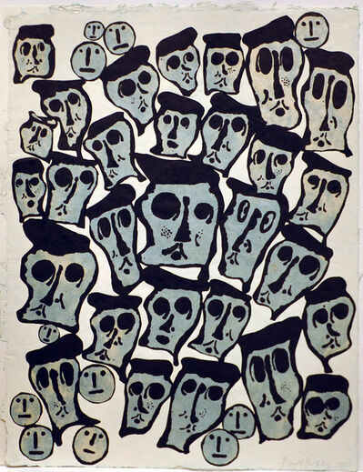 Donald Baechler, 'Untitled #5 (From the 1990 Crowds Portfolio)', 1990