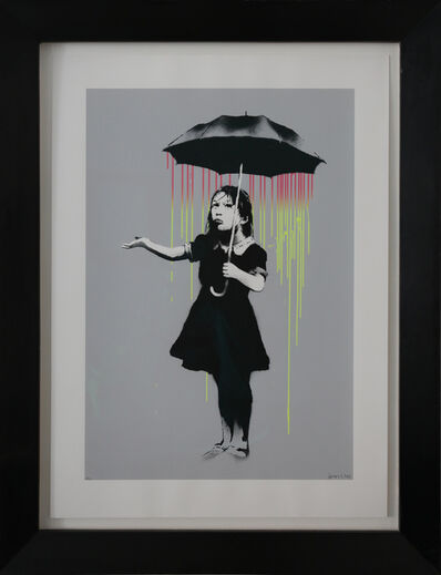 Banksy, 'Nola AP (Pink to Yellow Rain) signed', 2008