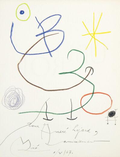 Joan Miró, 'Ubu Roi', 1967