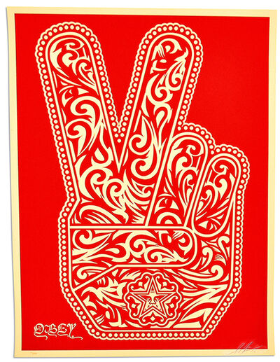 Shepard Fairey (OBEY), 'PEACE FINGERS', 2016