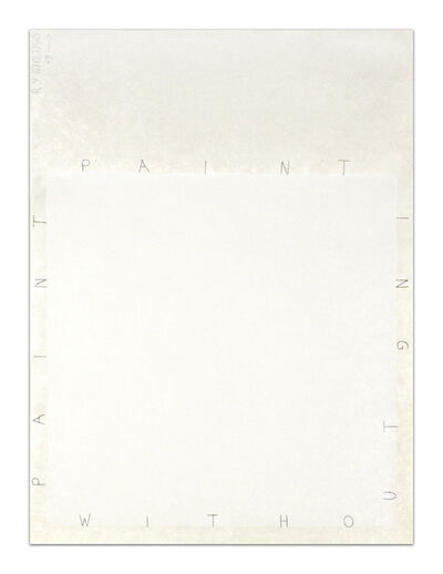 Robert Ryman, 'Painting Without Paint', 1995