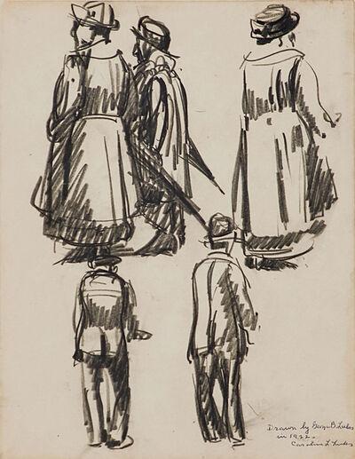 George Benjamin Luks, 'Watching the Parade', 1922