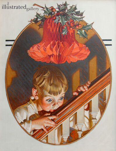 Joseph Christian Leyendecker, 'Christmas Peek, Saturday Evening Post Cover', 1939
