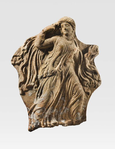 Unknown Greek, 'Ancient Tarantine Terracotta Plaque with a Maiden', 24, 000.00 Greek, South Italian, Tarantine, 4th century B.C.